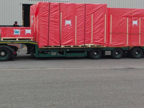 Air freight project shipment to Pennsylvania